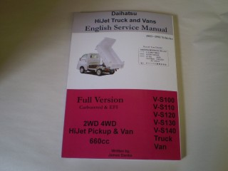 Daihatsu Hijet English Service Manual Shop Repair Manual S82 S83 S110